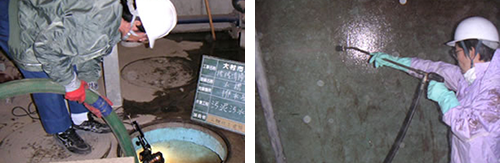 汚水槽の清掃